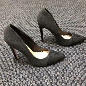 ShoeDazzle * Charcoal Wool Stilettos * Size 9.5